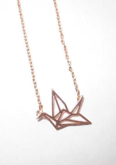 """Origami Bird"" Necklace"