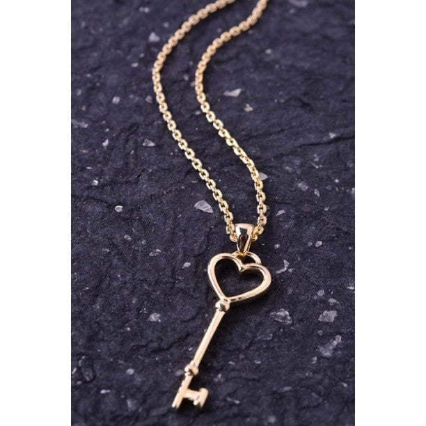 "Genova ""Heart Key"" Necklace"