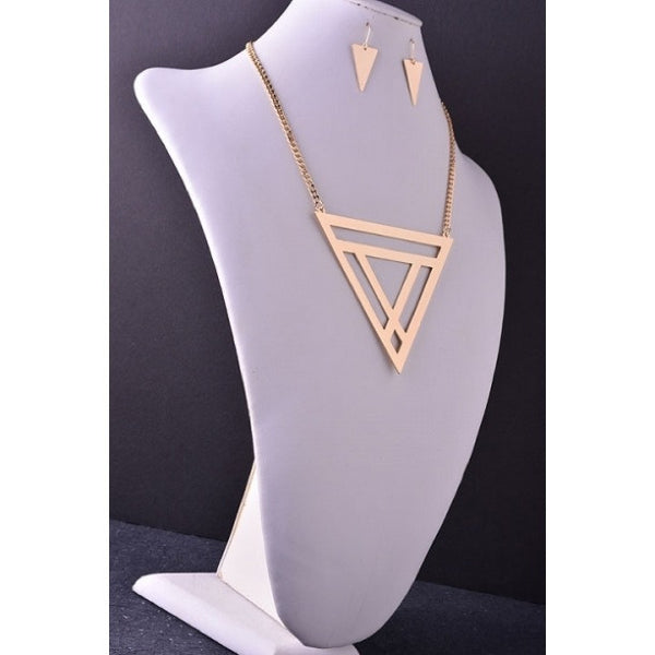 "Dark Canyon ""Geo"" Necklace & Earrings"