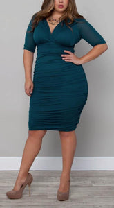 Kiyonna Betsey Ruched Dress