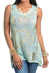 Mint Palm Tunic