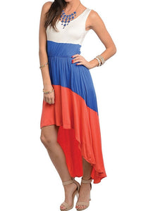 Pacific Red, White and Blue Dress