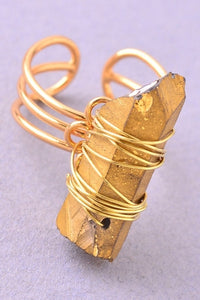 Gold Stone Ring