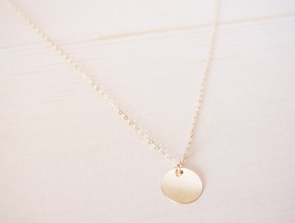 Dainty Gold Circle Necklace // Custom