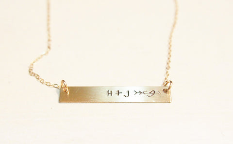 Gold Bar Necklace | Customized