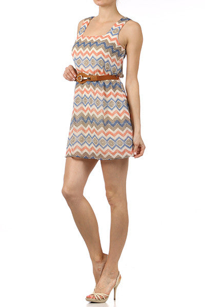 Helena Chevron Printed Dress