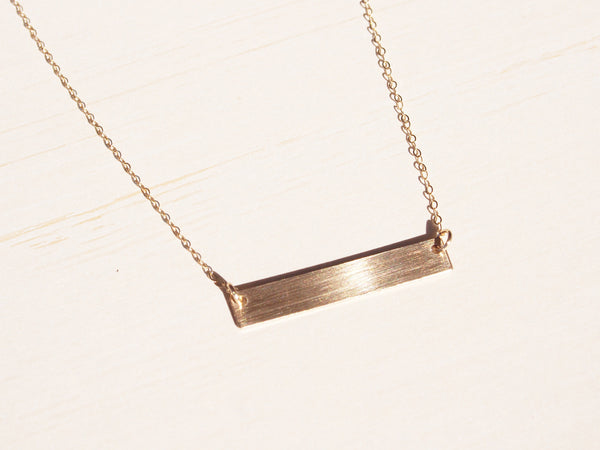 Gold Bar Necklace | Blank