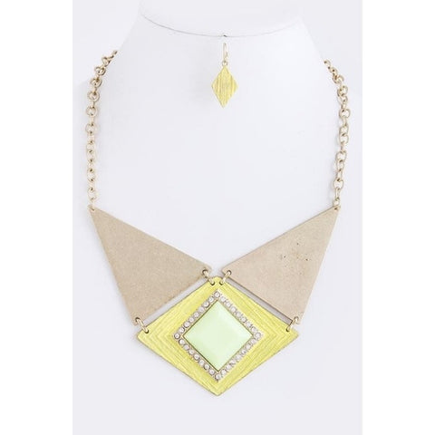 Laverna Triangle Necklace & Earrings