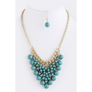 Addison Beaded Necklace & Earrings