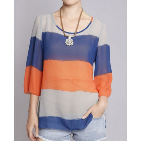 Alexandria Striped Blouse
