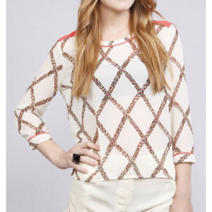 Sierra Cheetah Stripe Blouse