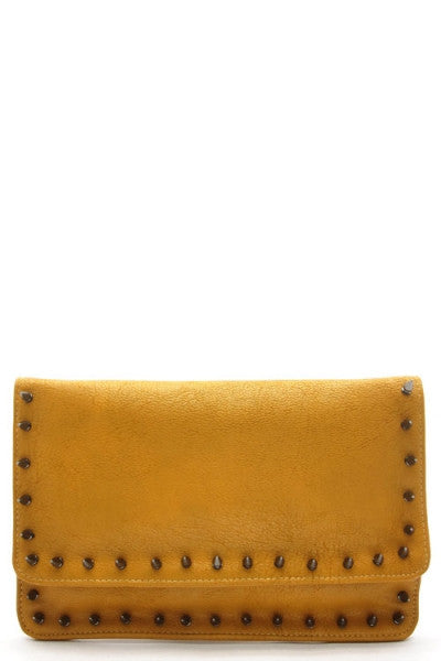Doheny Studded Clutch
