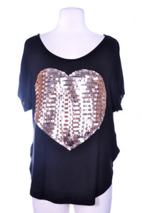 Amelia Sequin Heart Top