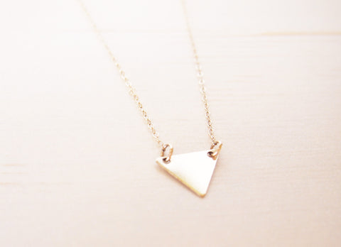 Gold Triangle Necklace | Blank