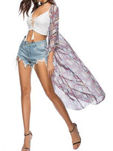 Laden Sie das Bild in den Galerie-Viewer, White Women Kimono Plunge Lace Up Front