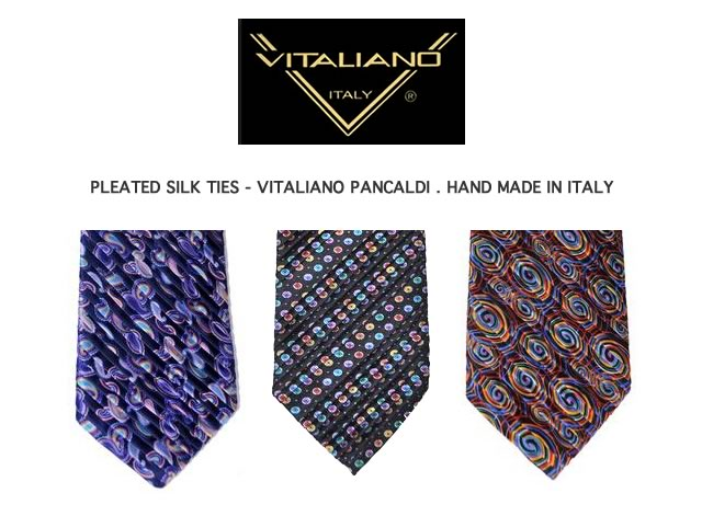 PLEATED SILK TIES