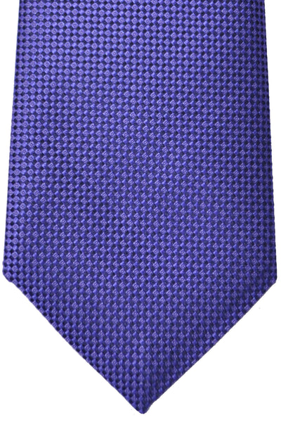 Luigi Monaco Extra Long 11 Fold Tie Classic Purple Geometric  - Hand Made In Italy