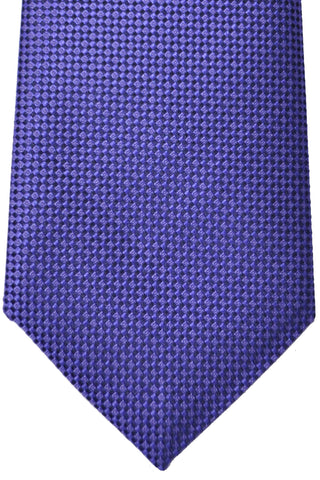Luigi Monaco 11 Fold Tie Purple  - Hand Made In Italy