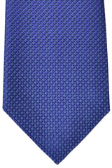 Luigi Monaco Extra Long 11 Fold Tie Navy Sky Blue Geometric - Hand Made In Italy