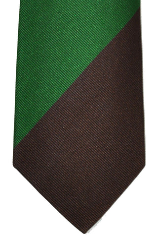 Gene Meyer Tie Aqua Green Brown