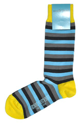 Gene Meyer socks blue gray