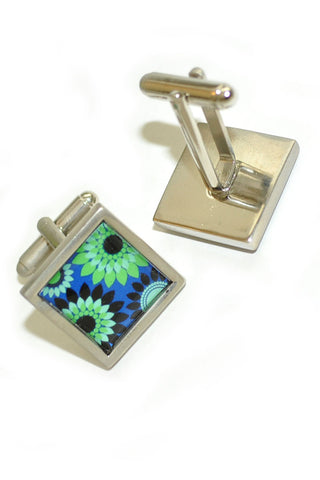 Sonia Spencer Cufflinks Floral Design