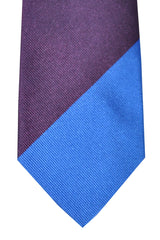 Gene Meyer Tie Burgundy Blue Green Stripes Design