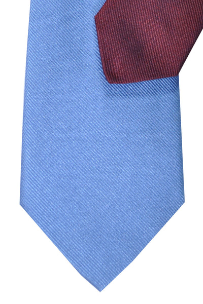 Gene Meyer Tie Blue Burgundy Design - FINAL SALE
