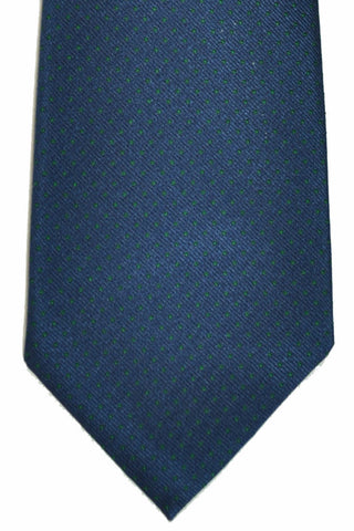Luigi Monaco 9 Fold Tie Navy Green Mini Dots SALE
