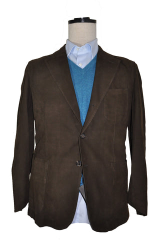 Cesare Attolini Brown Suede Jacket EUR 50 / US 40 SALE