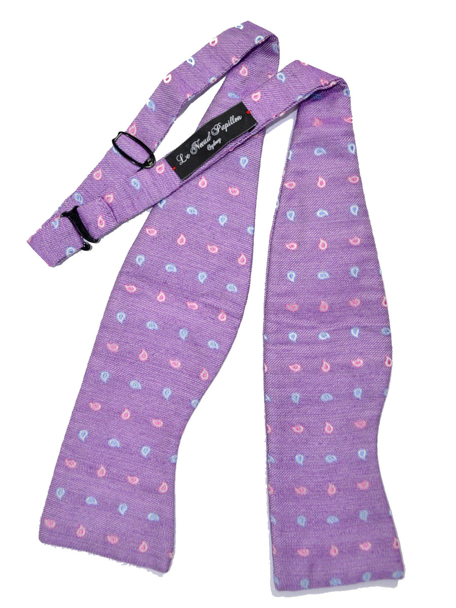 Le Noeud Papillon Bow Tie Purple Mini Paisley Self Tie SALE