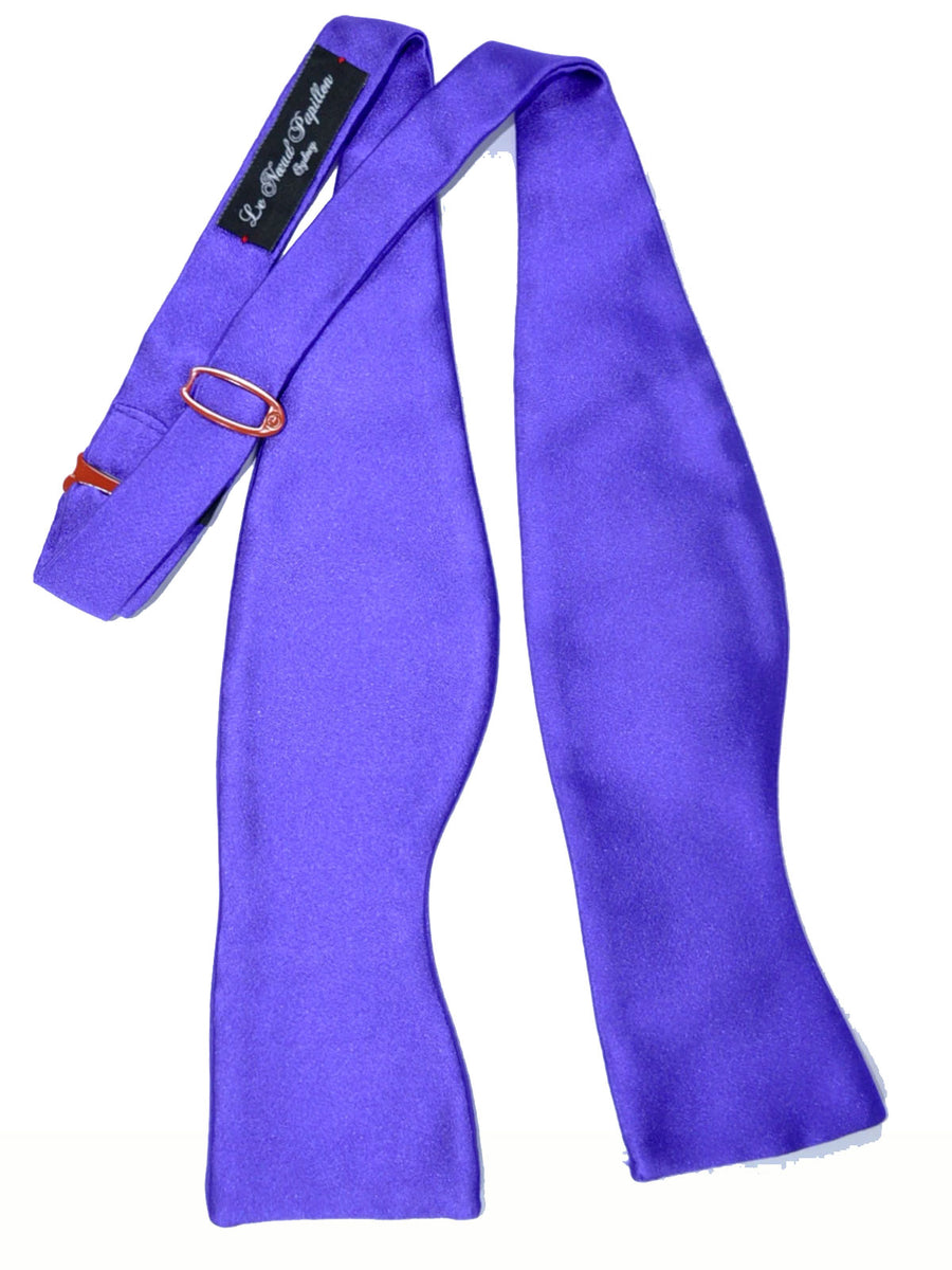 Le Noeud Papillon Silk Bow Tie Solid Purple SALE