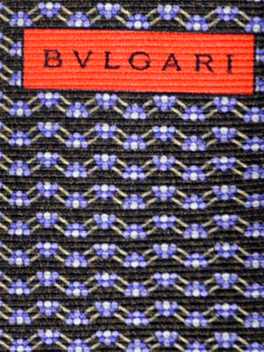 Bvlgari Sevenfold Tie Dark Brown Lilac SALE
