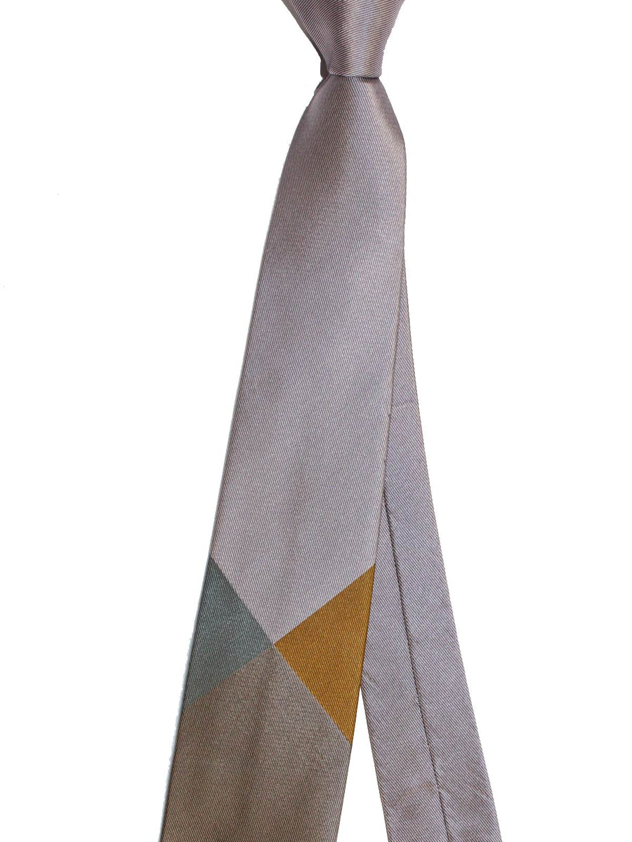 Gene Meyer Necktie Gray Design - Hand Made In Italy