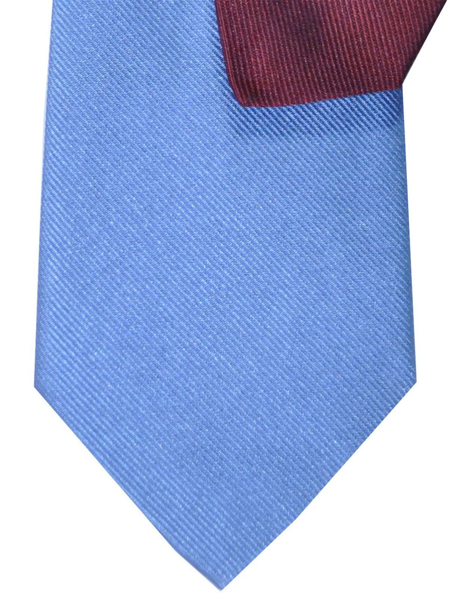 Gene Meyer Tie Blue Burgundy Design FINAL SALE