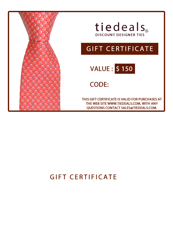 GIFT CARD $150 GIFT CERTIFICATE