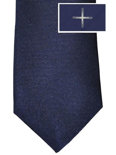 Givenchy Tie Navy Silver Cross Design - Narrow Cut SALE