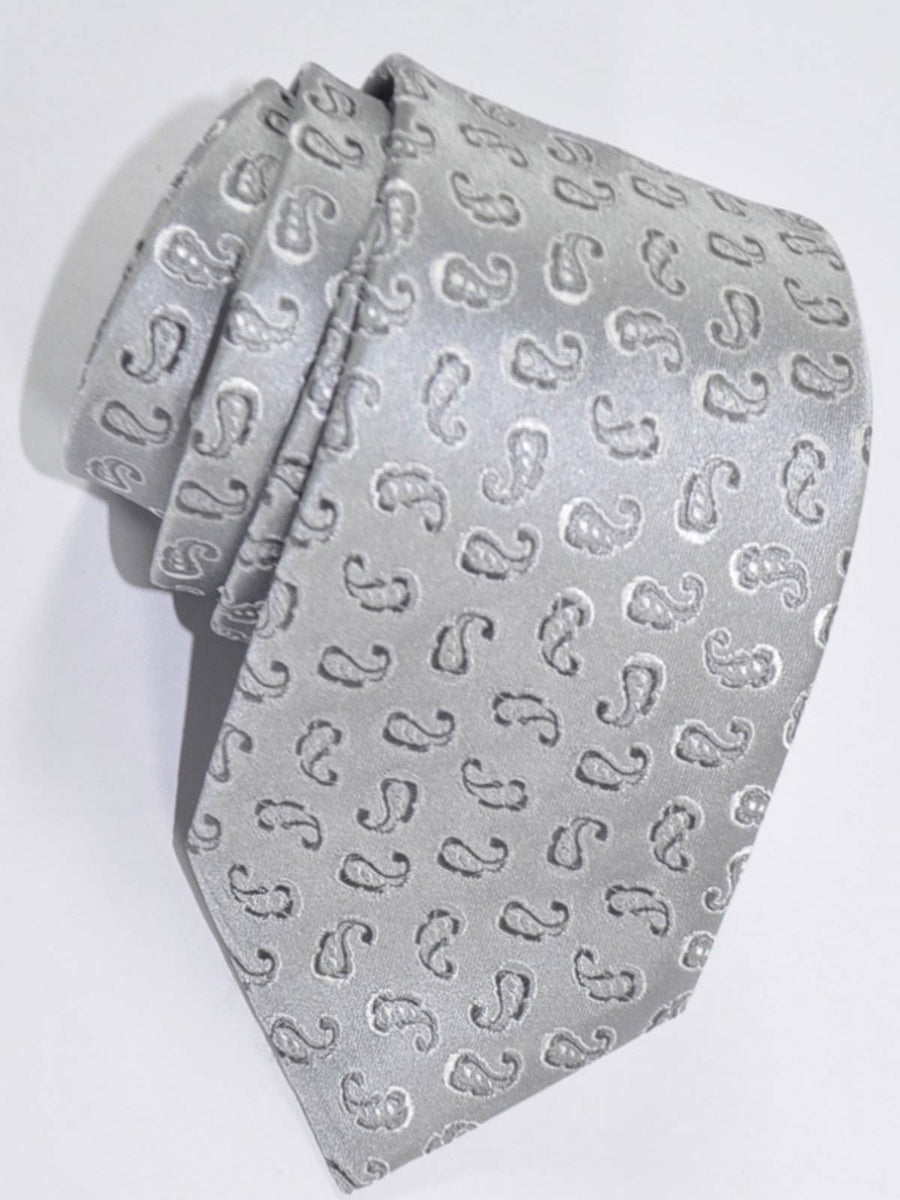 Kenzo Narrow Tie Gray Paisley FINAL SALE