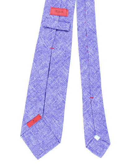 Isaia Sevenfold Tie Solid Purple Design