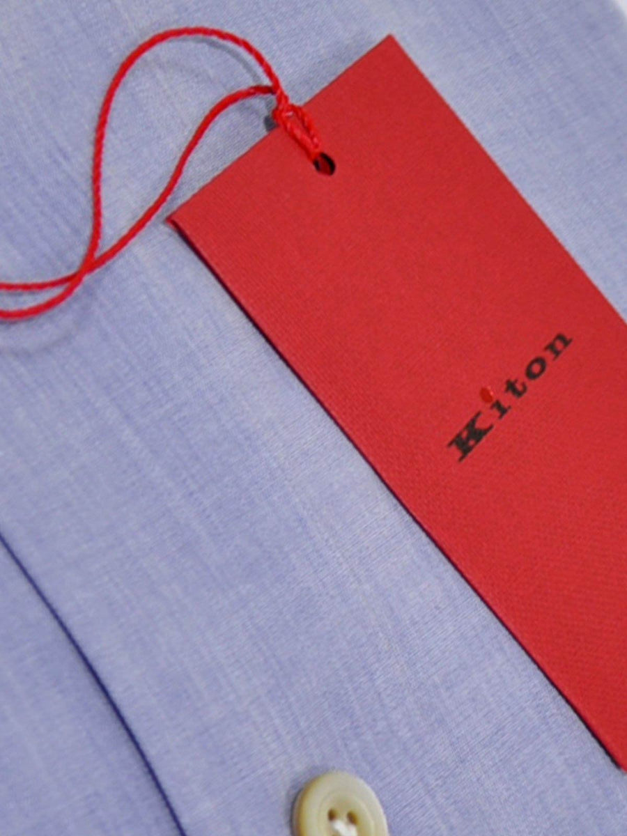 Kiton Shirt Blue Lavender 38 - 15 SALE