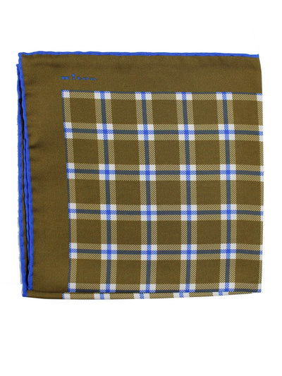 Olive Royal Blue Check Plaid