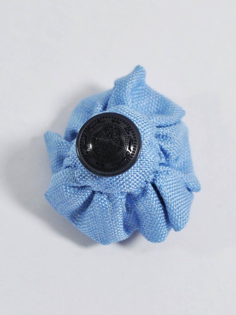 Le Noeud Papillon Silk Lapel Flower Blue SALE
