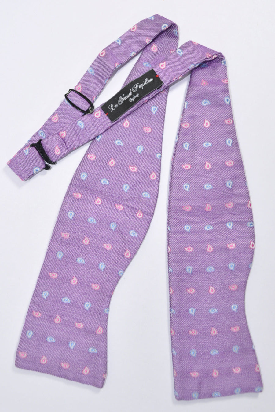 Le Noeud Papillon Bow Tie Purple Paisley Self Tie