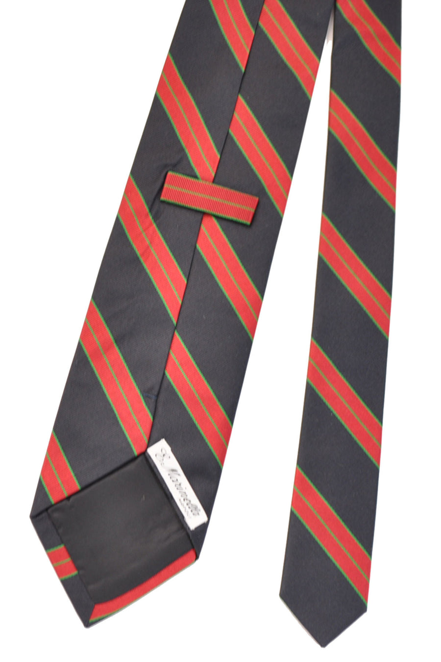 E. Marinella Tie Navy Red Green Stripes