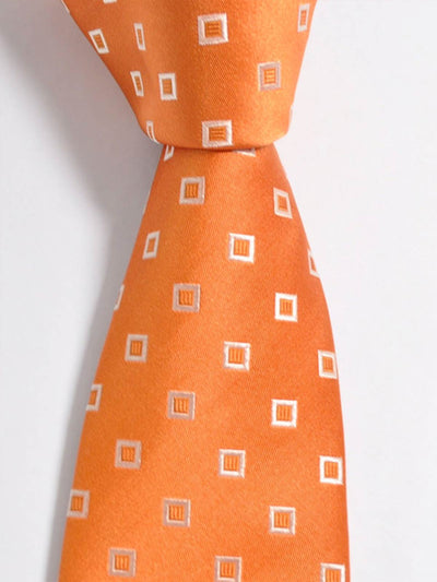 Luigi Borrelli Tie Rust Orange Squares SALE