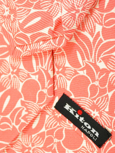 Kiton Sevenfold Tie Pink Floral