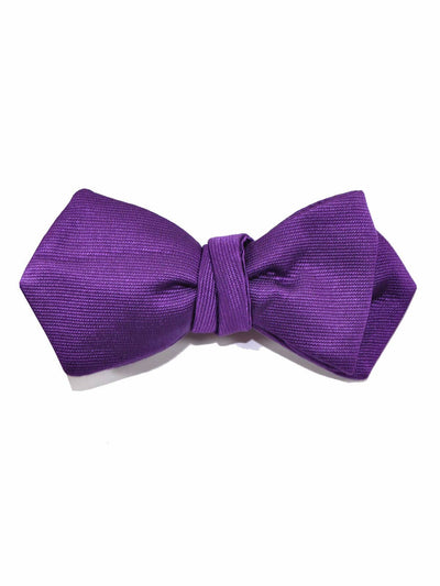 Le Noeud Papillon Bow Tie Solid Purple Diamond Point Self Tie - FINAL SALE