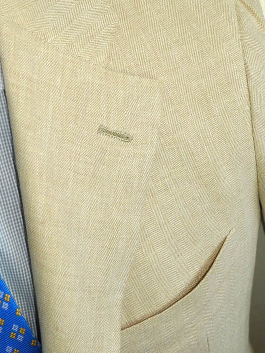 Kiton Sport Coat - Jacket Cream Linen