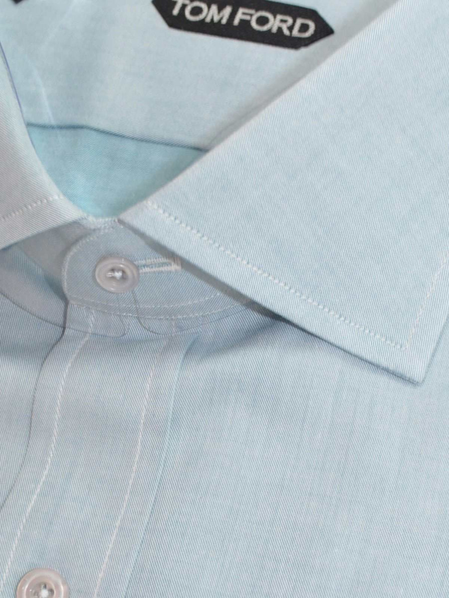 Tom Ford Dress Shirt Solid Sea Foam Blue