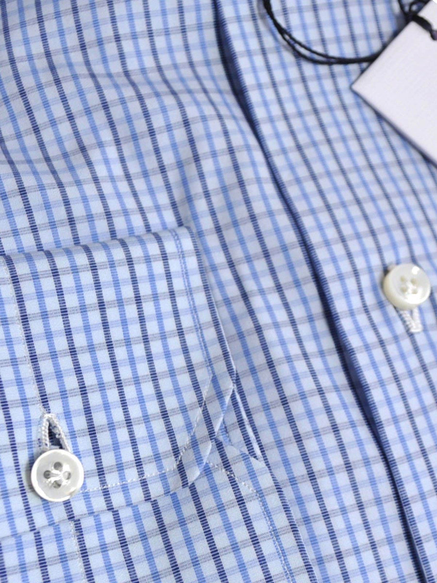 Mattabisch Dress Shirt Blue Navy Check